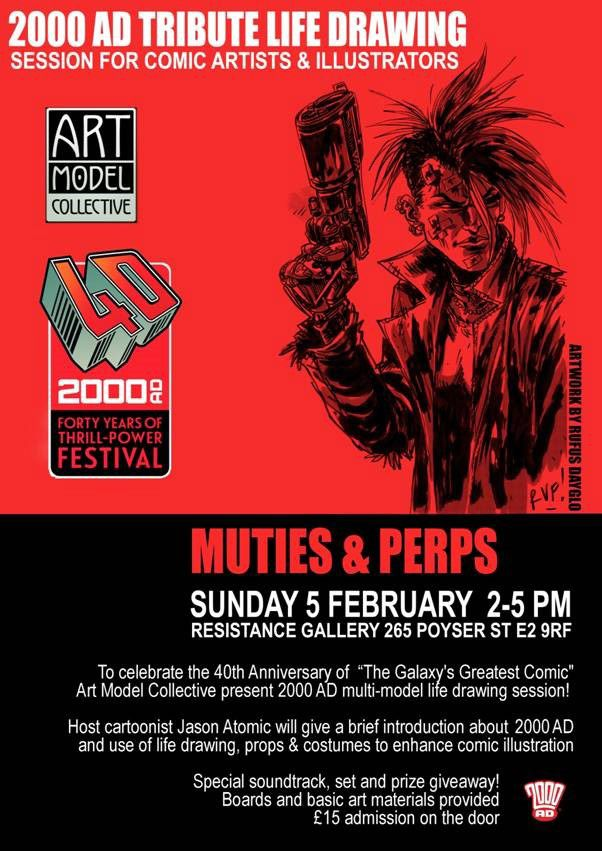 2000AD Life Drawing Event 2017