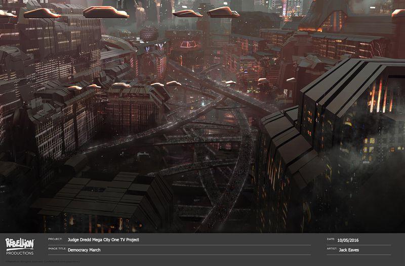 Judge Dredd: Mega-City One Concept Art 1