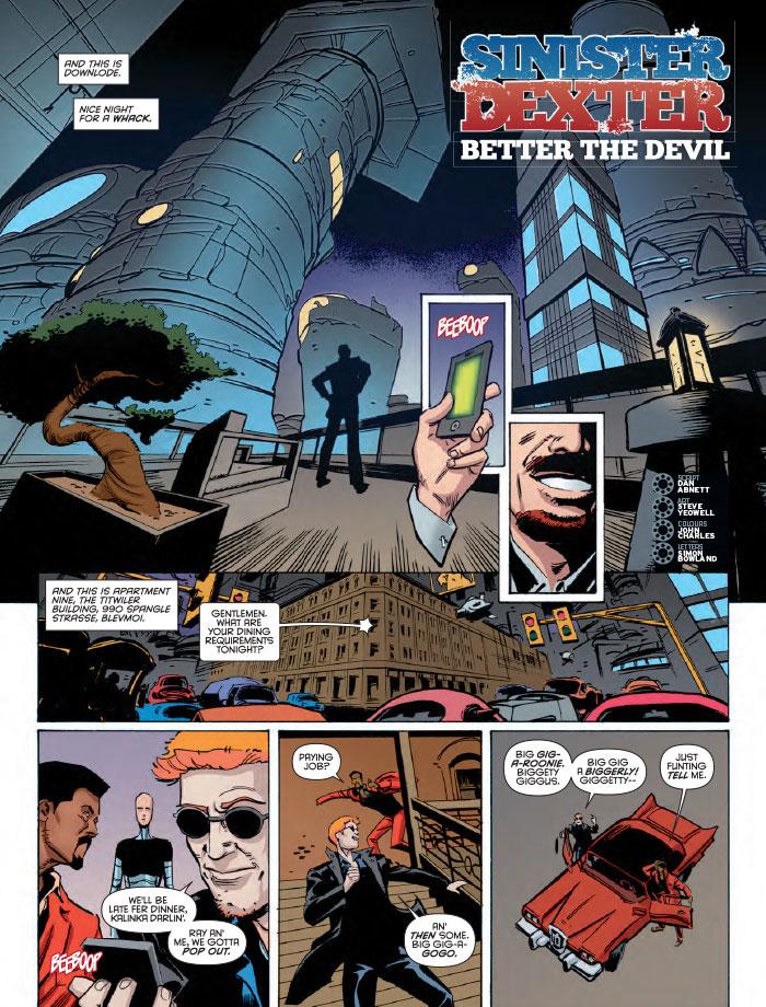 2000 AD Prog 2022 Sinister Dexter